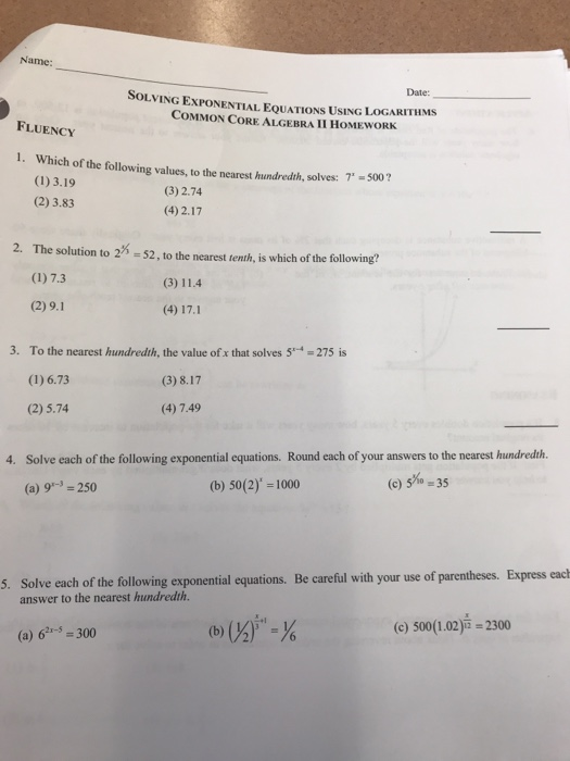 Help with math homework algebra 2