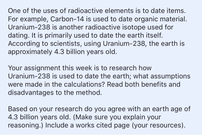Approximately how old is the earth based on radioactive isotope dating