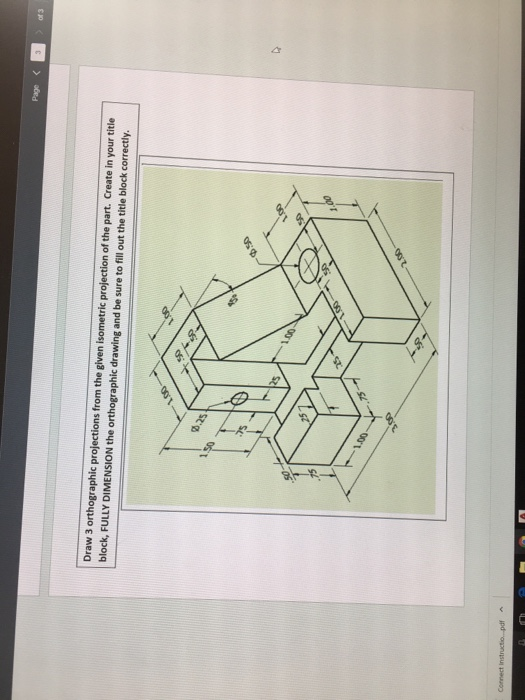 Projection pdf isometric
