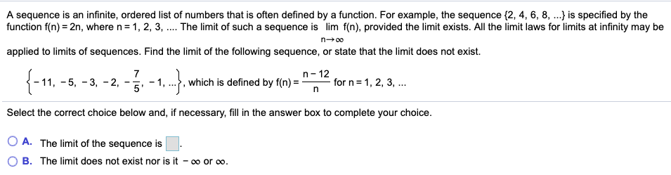 Solved: A Sequence Is An Infinite, Ordered List Of Numbers