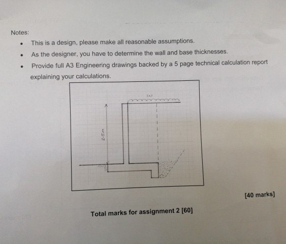 Solved: [20 Marks] Question 2 Design A Retaining Wall (see