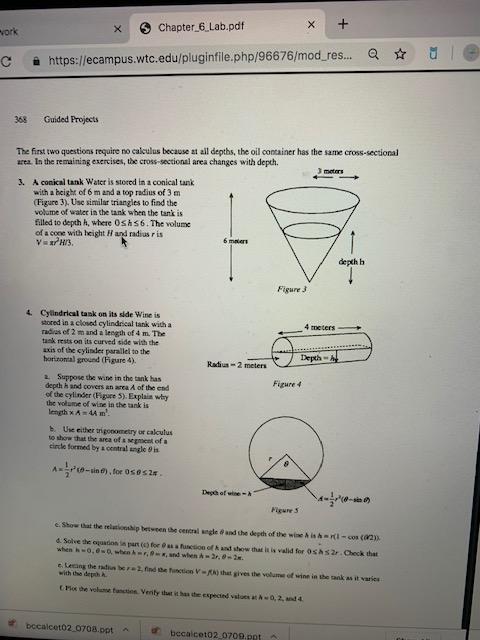 Solved: X Vork Chapter_6_Lab pdf X + Https://ecampus wtc e