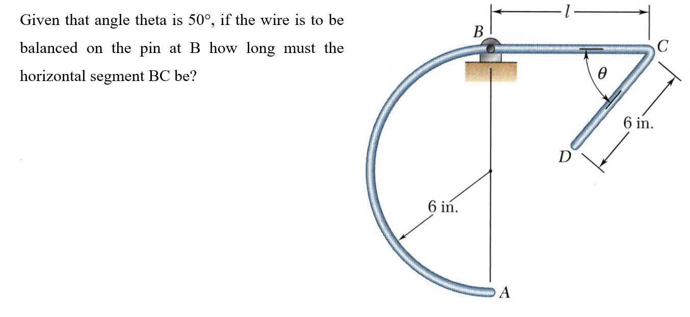 Solved: Given That Angle Theta Is 50°, If The Wire Is To B ... on