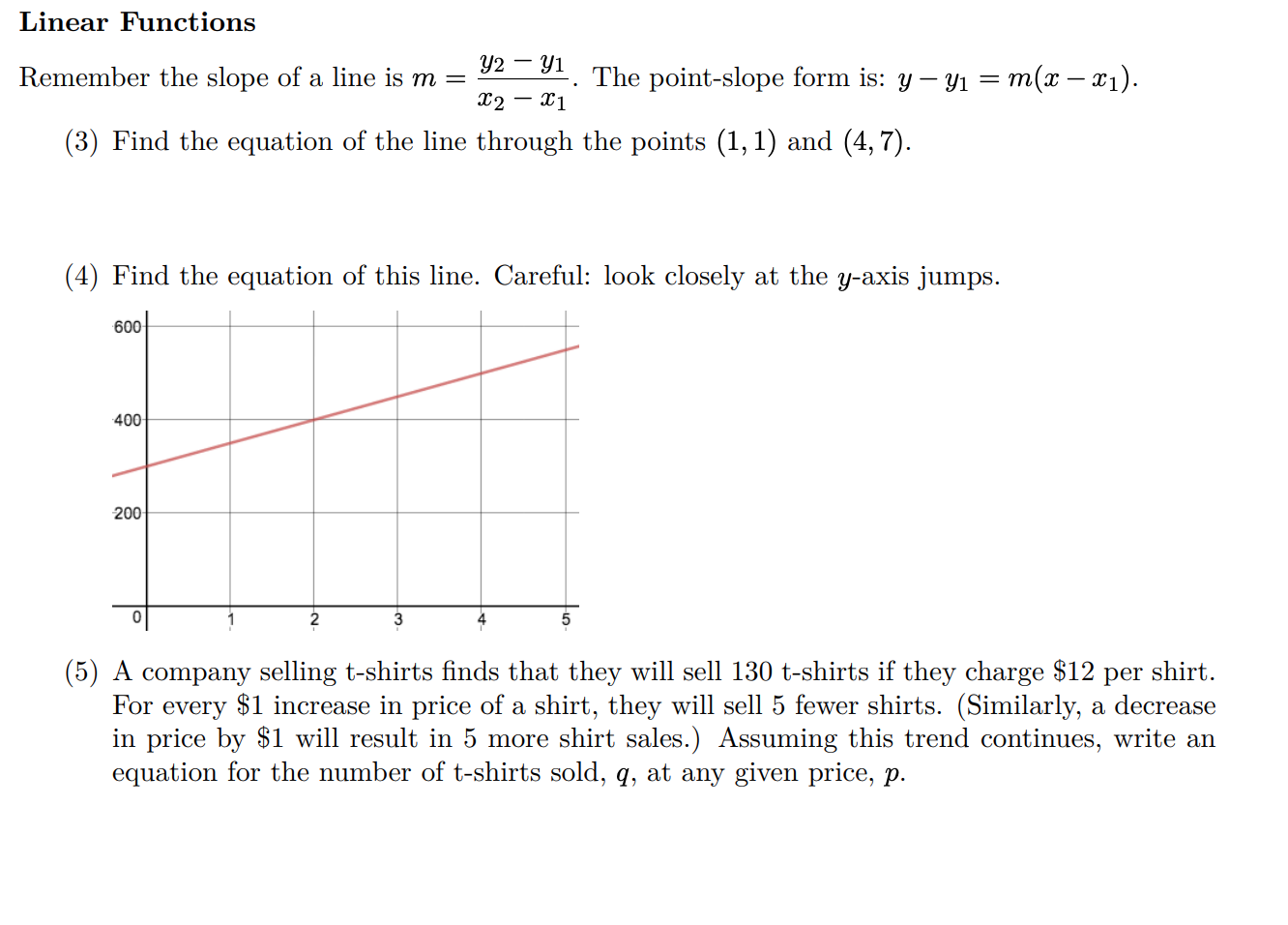 point slope form if slope is 0  Solved: Linear Functions The Point-slope Form Is: Y-y M(x ...