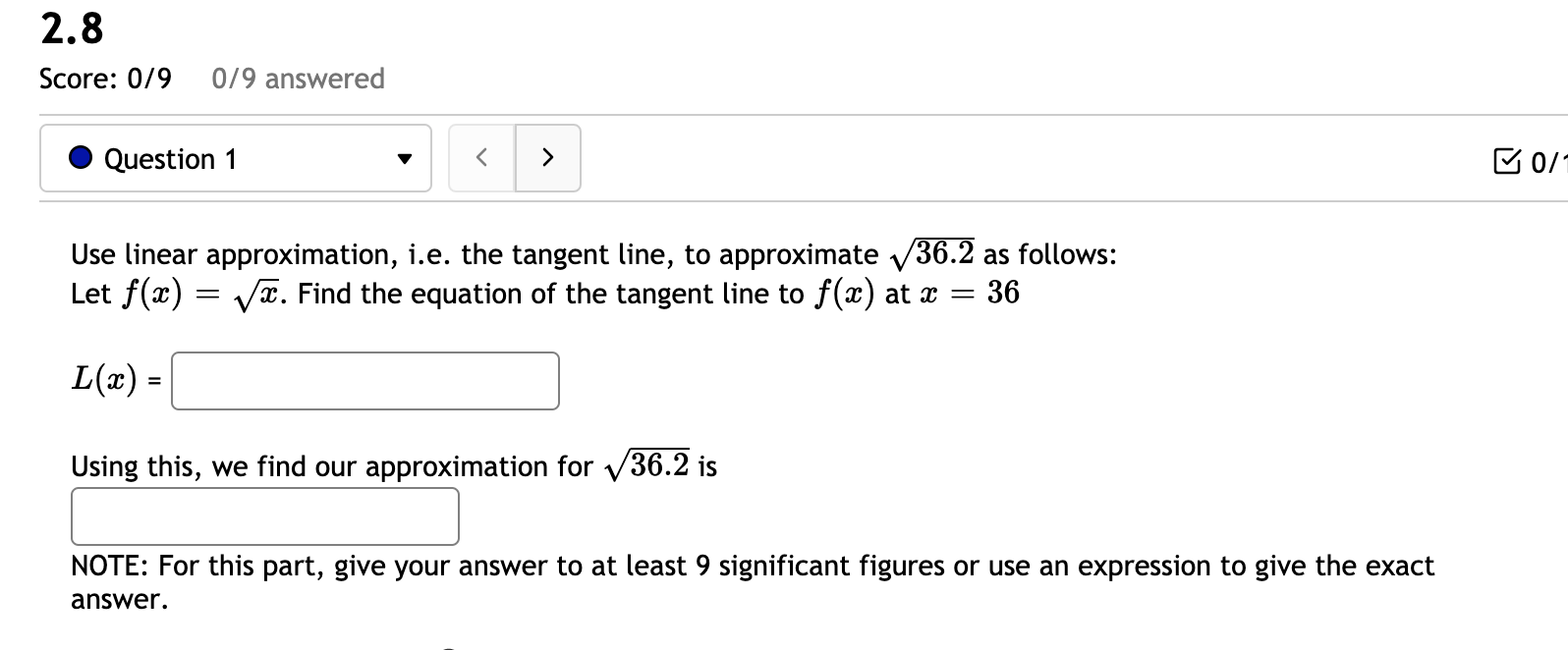 Solved 2 8 Score 0 9 0 9 Answered Question 1 D0 Use Lin Chegg Com