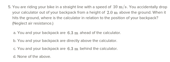 Solved: Straight Line With A Speed Of 10 M/s  You Accident