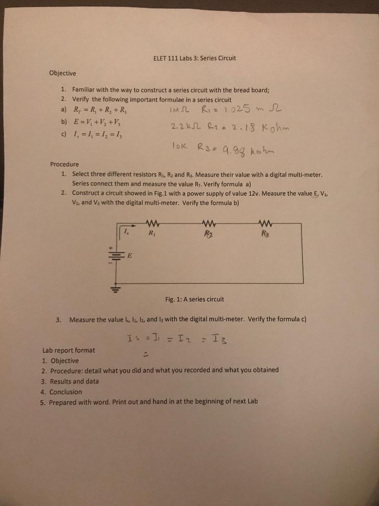 Series Circuit Formula