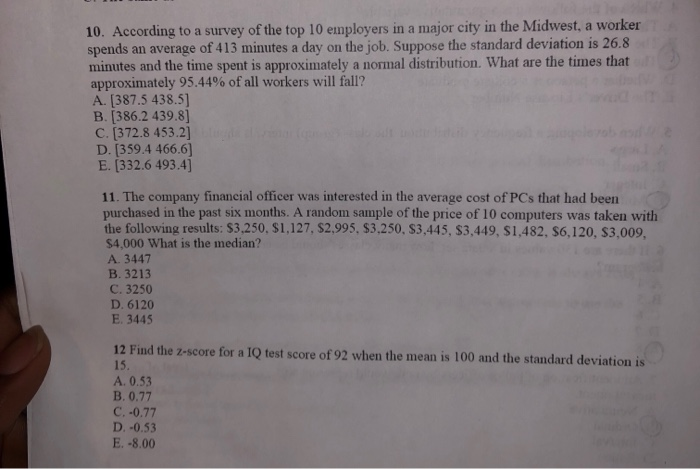 Solved: 10  According To A Survey Of The Top 10 Employers