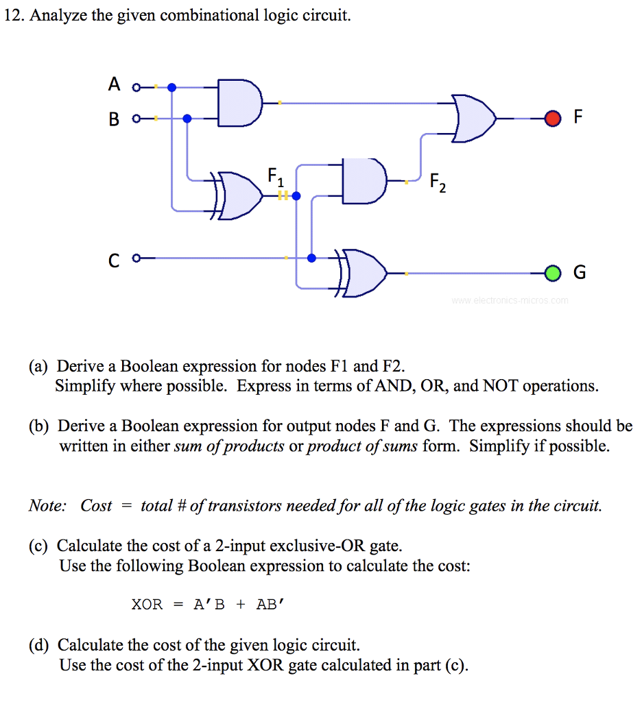 Xor Expression Logic Diagram Of Gate Question Analyze The Given Combinational Circuit A O Derive Boolean 936x1024