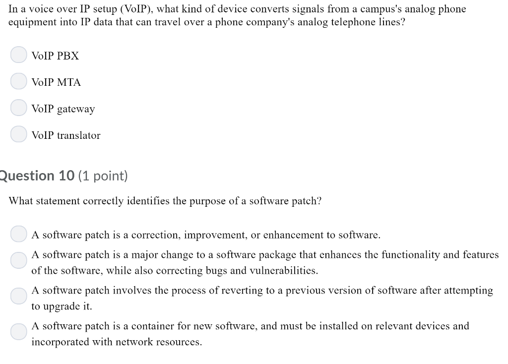 Solved: In A Voice Over IP Setup (VoIP), What Kind Of Devi