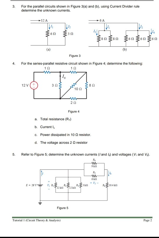 for the parallel circuits shown in figure 3(a) and (b