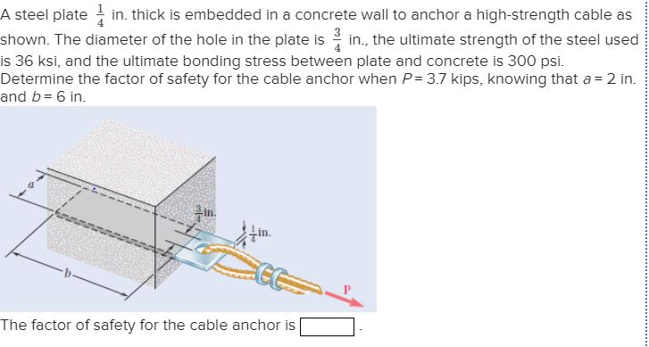 Solved: A Steel Plate In Thick Is Embedded In A Concrete W