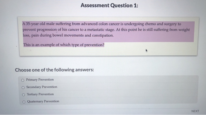 Solved Assessment Question 1 A 35 Year Old Male Sufferin Chegg Com