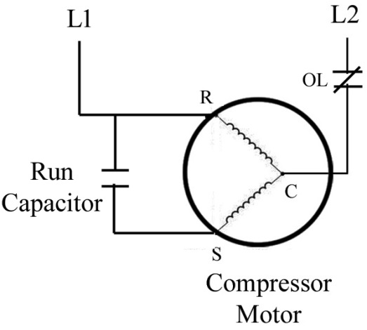 Solved: Draw a sketch of a PSC hermetic compressor with a run c... |  Chegg.com | Psc Compressor Wiring Diagram |  | Chegg