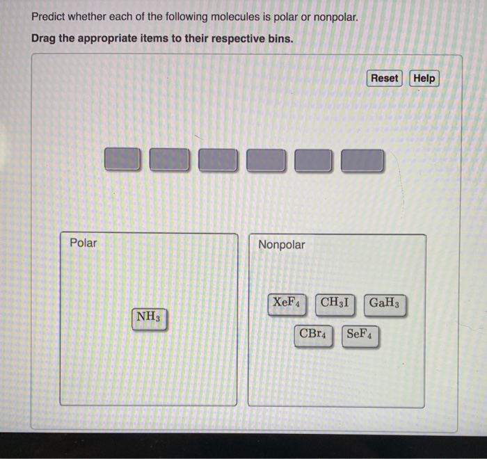 Solved Predict Whether Each Of The Following Molecules Is Chegg Com