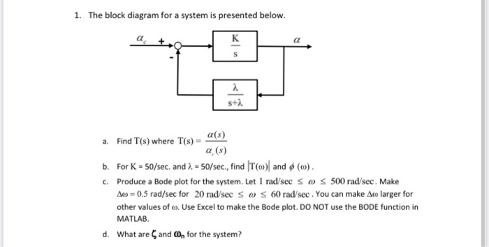 Solved: 1. The Block Diagram For A System Is Presented Bel... | Chegg.comChegg