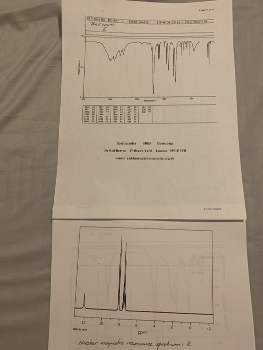 Solved: Based On The Following IR,NMR Graph Determine The