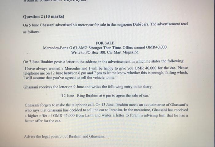Letter Of Sale For Car from media.cheggcdn.com