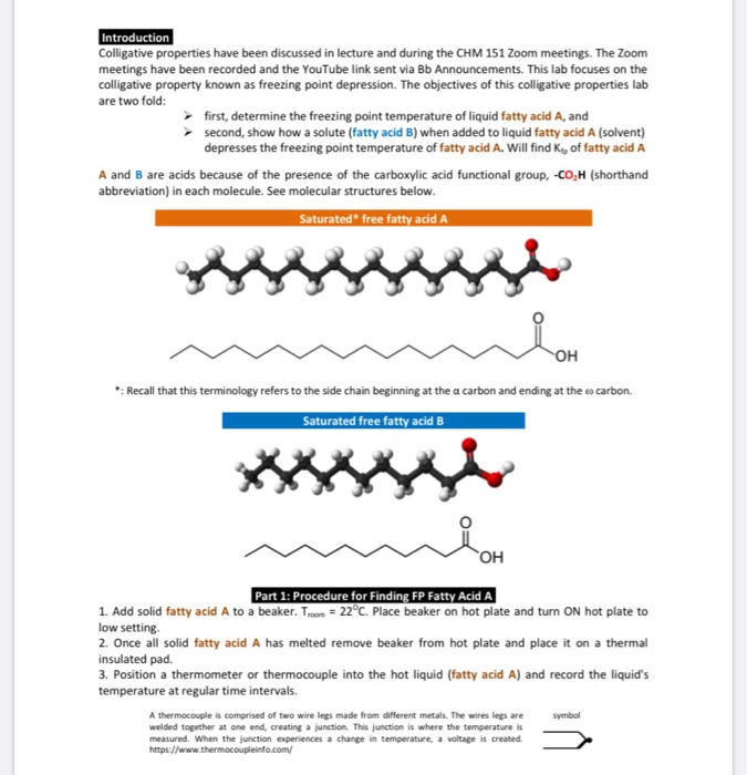 Solved: Introduction Colligative Properties Have Been Disc ...