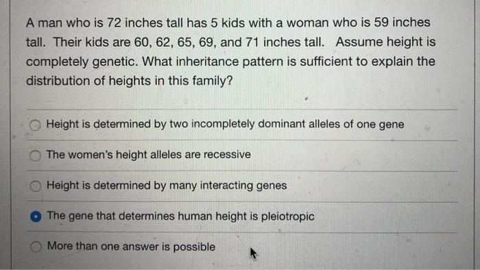 What gene determines height