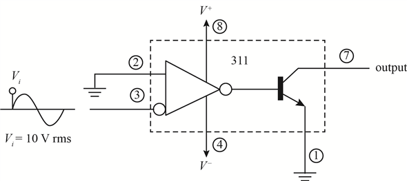 Solved  Draw A Circuit Diagram Of A 311 Op