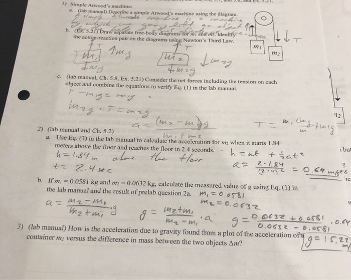 Solved  3   Lab Manual  How Is The Acceleration Due To Gra