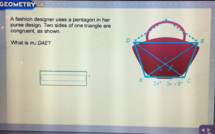 Solved Geometry A A Fashion Designer Uses A Pentagon In H Chegg Com