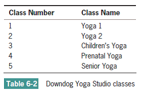 Solved A The Down Dog Yoga Studio Offers Five Types Of Classe Chegg Com