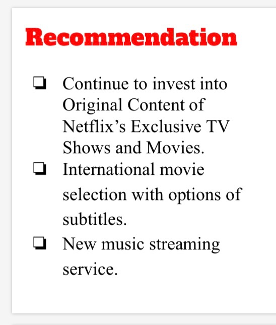 Solved I Need A Conclusion For The Netflix Case Study Bu