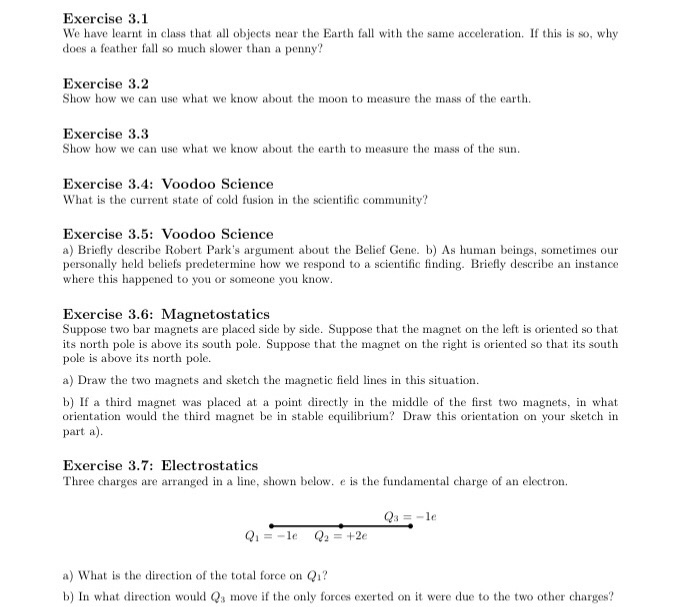 Solved: Exercise 3 1 We Have Learnt In Class That All Obje