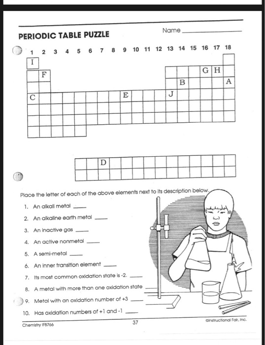 Chemistry Periodic Table Activity Answer Key ...
