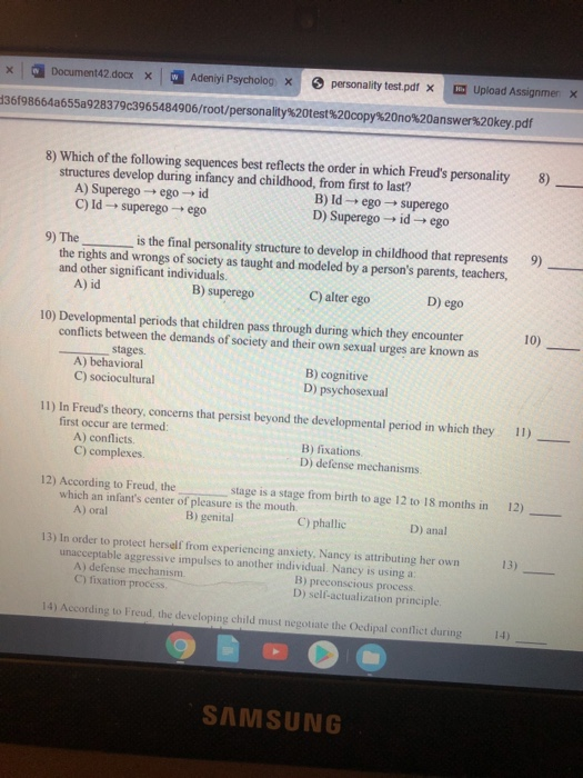 Solved X Document42 Docx X Adeniyi Psycholog X Personali