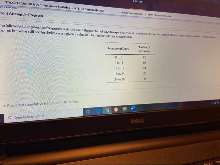 Solved: Courses STA2023 20203-1V-A-007 Elementary Statisti... | Chegg.com