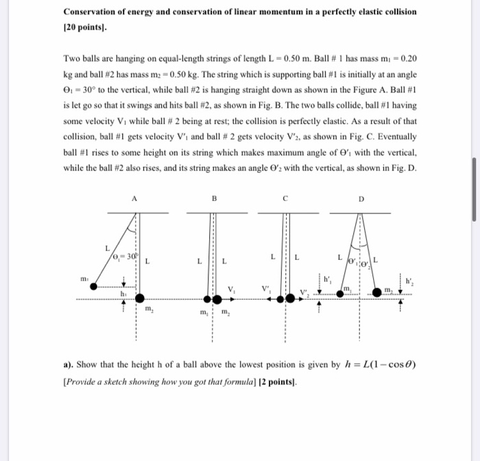 Solved Conservation Of Energy And Conservation Of Linear Chegg Com