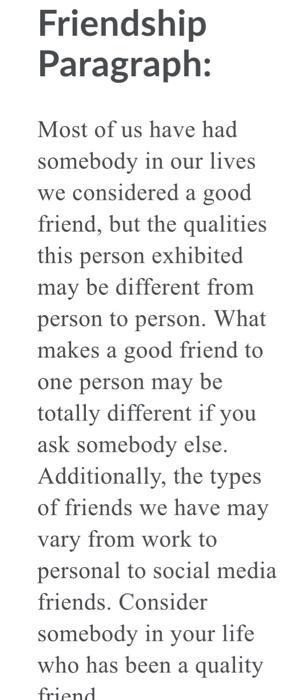 Make good friend that qualities a Friendship Traits: