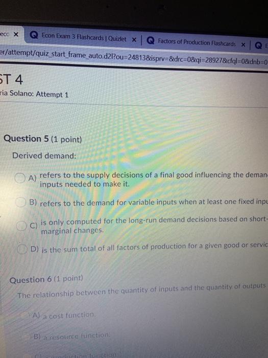Economics Chapter 3 Review Quizlet