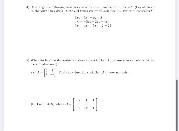 Solved 3 Solve The Following System Of Equations By Sett Chegg Com