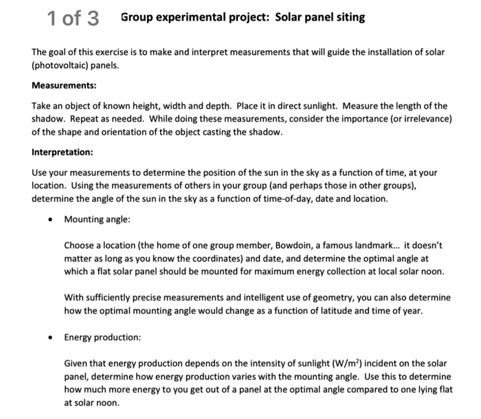 Project On Creating Solar Panels