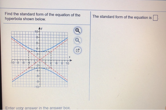 Solved Find The Standard Form Of The Equation Of The Hype Chegg Com