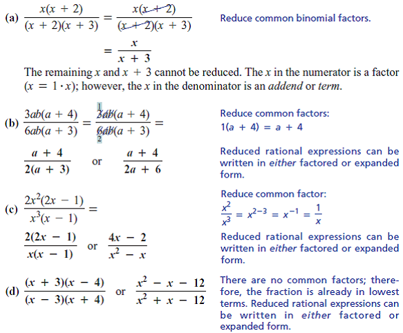 expanded form to factored form  Solved: See ExampleEXAMPLESimplify the rational expressions ...