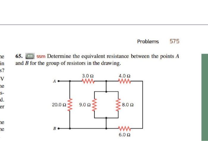 Solved: 575 Problems Ne 65 Ssm Determine The Equivalent Re