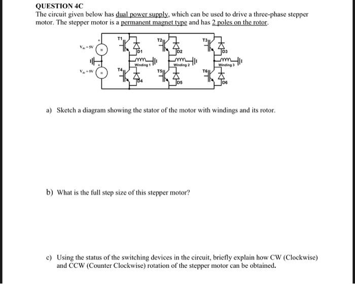 3 Phase Stepper Motor Wiring Diagram from media.cheggcdn.com
