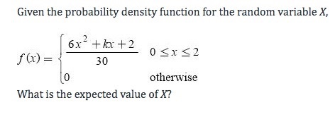 Given The Probability Density Function For The Ran