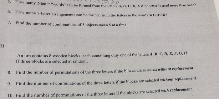Solved: JLI- 520 3. How Many 2-letter Words Can Be Formed ... | Chegg.com