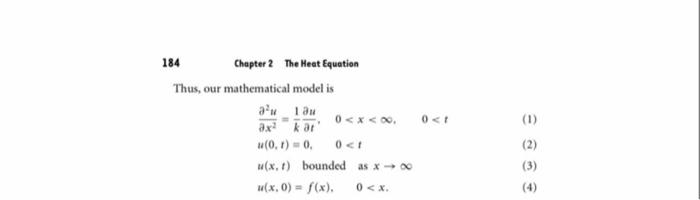 Solved 2 10 Semi Infinite Rod 187 2 Verify That U X T Chegg Com