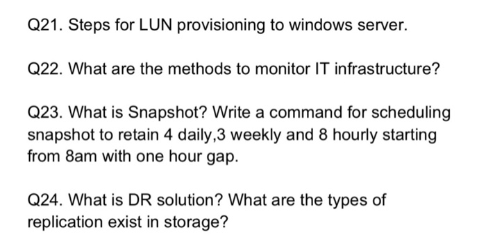 Solved: Q21  Steps For LUN Provisioning To Windows Server