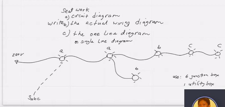 seat work a circuit diagram writes the actual wi