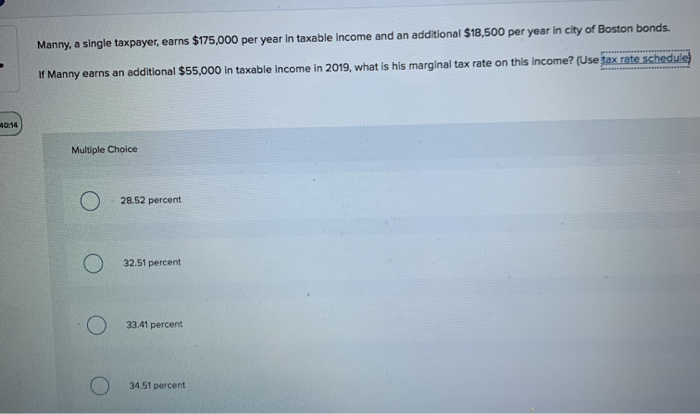 manny a single taxpayer earns