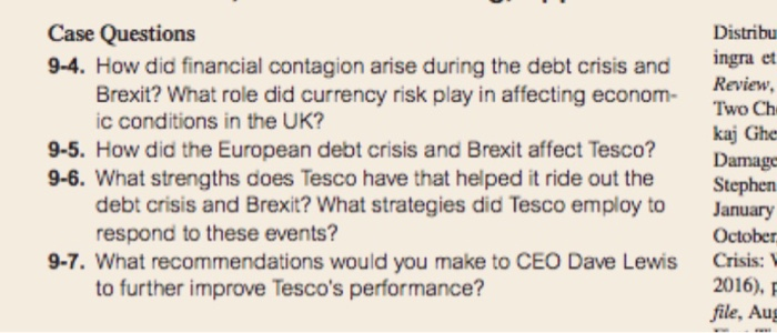Solved Case Questions 9 4 How Did Financial Contagion Ar Chegg Com