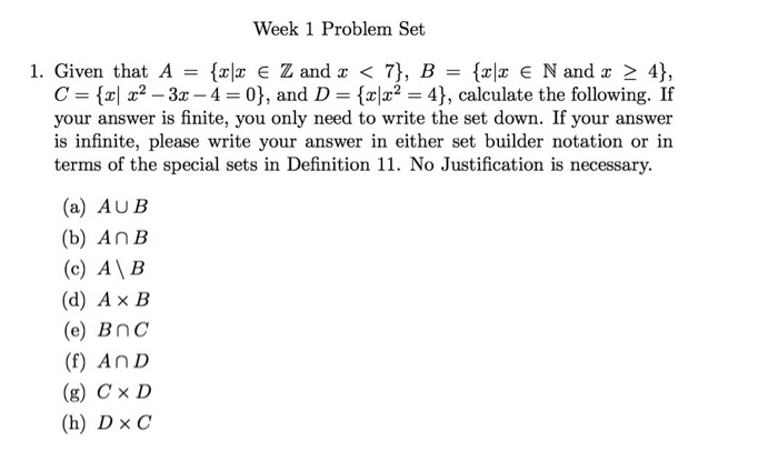 Solved Week 1 Problem Set 1 Given That A X X Z And X Chegg Com